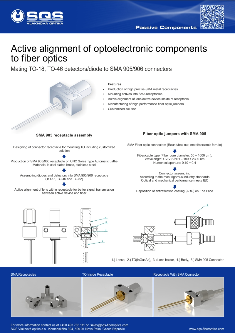Alignment of Optoelectronic Components to Optical Fiber