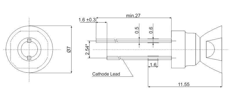 Drawing mini beam led 10 type e